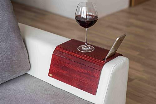 Vassoio in legno da divano, protezione per braccioli, tavolino da divano, sottobicchiere, vassoio per divano, portatelefono colore 6.