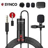 SYNCO Lav S6 Microfono-Lavalier-Microfono-a-Clip Condensatore Omnidirezionale 6 Metri / 19...