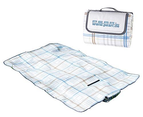 PEARL Campingdecke: Fleece-Picknick-Decke mit wasserabweisender Unterseite, 140 x 100 cm (Isomatte)