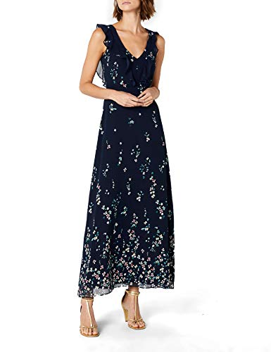 ESPRIT Collection Damen 028EO1E033 Partykleid, Blau (Navy 400), 36