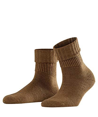 FALKE Damen Socken Rib, Schurwollmischung, 1 Paar, Braun (Nutmeg Melange 5410), Größe: 39-42