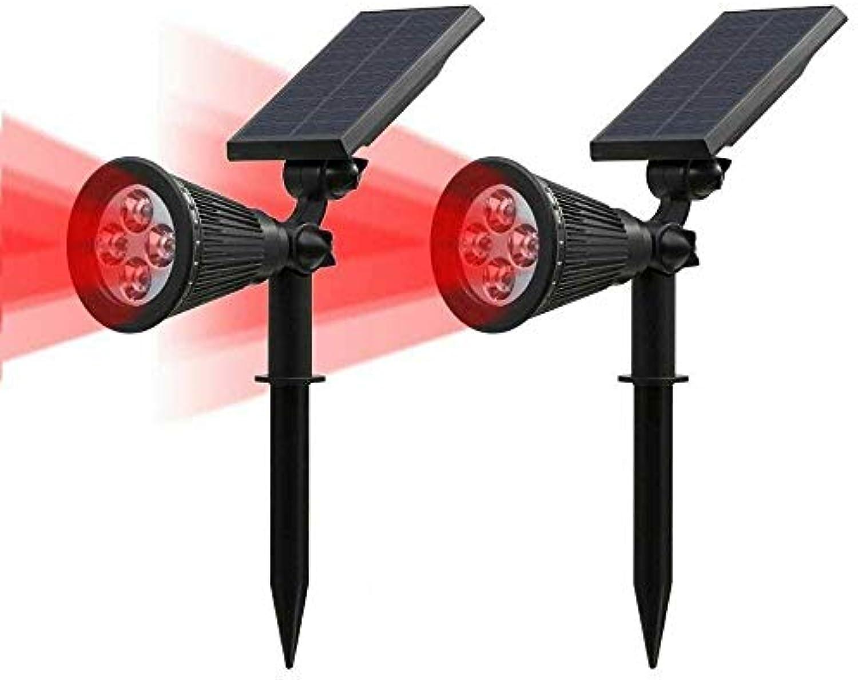 AMTSKR Solar Lights Outdoor, 4-LED Scheinwerfer Licht 180 ° Adjustable Waterproof Out