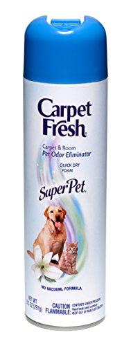 Carpet Fresh Super Pet Carpet and Room Pet Oder Eliminator,  Animal Smell remover, No Vacuum Formula, 10.5 OZ  [6-pack]