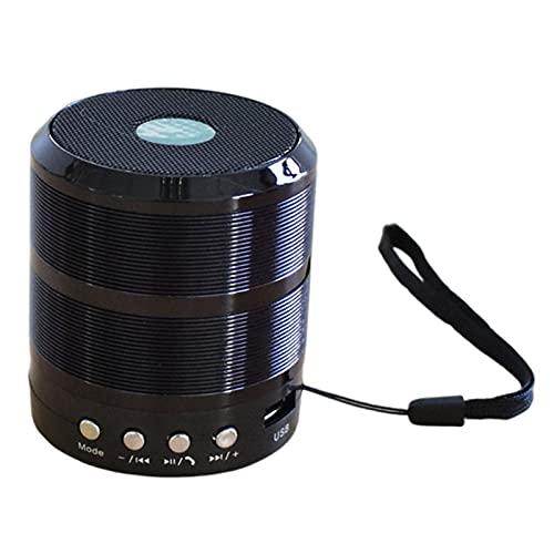 H HILABEE Altavoz Bluetooth, Altavoz portátil inalámbrico con Sonido estéreo Fuerte, Graves intensos, Micrófono Incorporado - Negro