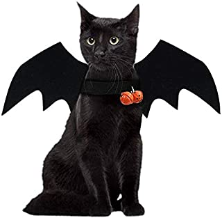 JHFY Cat Bat Costume - Black Cat Bat Wings Cosplay - Pet Costumes Apparel for Cat Small Dogs Puppy for for Small Dogs and Cats Dress Up Accessories