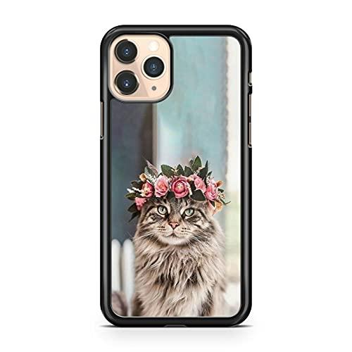 Lush Cuddly - Carcasa para Samsung Galaxy J5 (2017), diseño de gato con flores