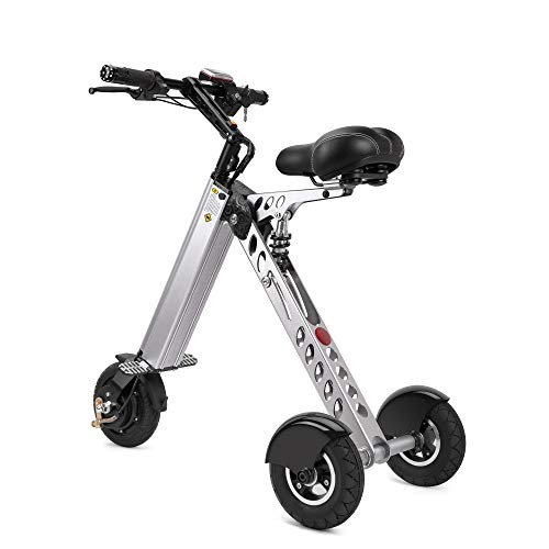 Sale!! TopMate ES30 Electric Scooter Mini Foldable Tricycle Weight 14KG with 3 Gears Speed Limit 6-1...