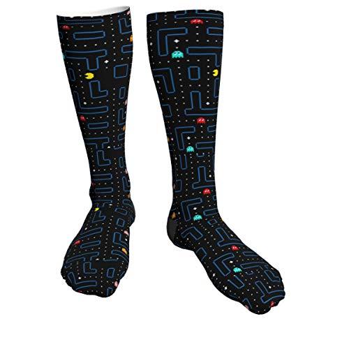 Pac-Man Maze Theme Long Compression Socks