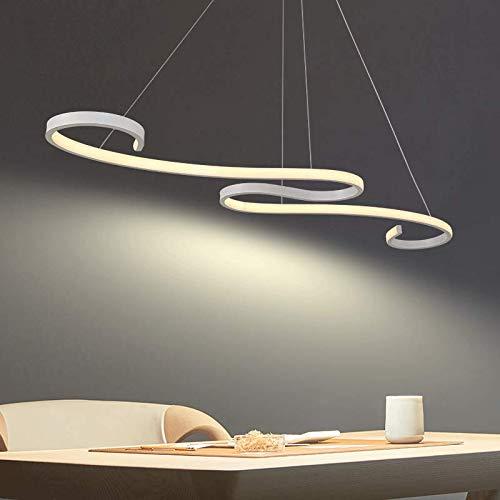 Lámpara colgante de techo contemporánea, luz LED moderna de arte único con 48W 6000K blanco, utilizada para sala de estar, restaurante, dormitorio, etc.