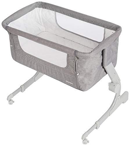 Moby-System 2in1 faltbares Babybett, seitlich zu öffnendes Kleinkinderbett, tragbare Stubenwagen für Baby und Kleinkind, Reisebett für Kleinkinder, mit Matratze