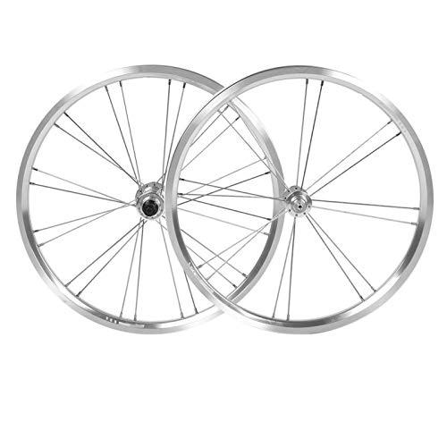 DAUERHAFT Aluminium Alloy Bike Wheel Set V Brake Bicycle Wheelset Simple Designed Durable,for Mountain Bike,for Bikes(Silver)