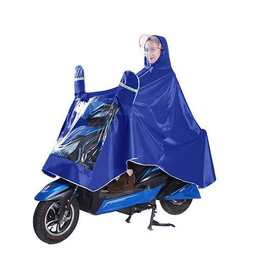Regenjassen Voor Outdoor Riding Electric Cars, Double vizieren voor mannen en vrouwen, dik gemaakte enige Ponchos,B,XXXL