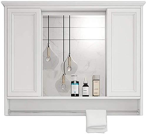 LAMTON Gabinete del Inodoro del gabinete de la Farmacia para el gabinete de Almacenamiento de baño para los cosméticos (Color : Blanc, tamaño : 80 * 14 * 73cm)