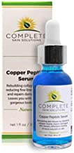 Copper Peptide Face Serum Collagen - With Anti Aging Skin Solutions Properties:1oz/30ml Anti-Wrinkle Formula For Youthful Skin-Promotes Collagen Production And Cell Rejuvenation�Heals Micro Wounds