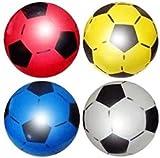 (Lot de 4) PVC Plastique Tir Football Football Doux Léger Convient Pour La Plage De Jeu En Intérieur En Plein Air, Parc, Maison, Anniversaire, École Et Parties Couleurs Assorties