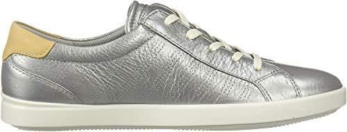 ECCO Damen Leisure Sneaker, Silber (Concrete/Powder 51322), 43 EU