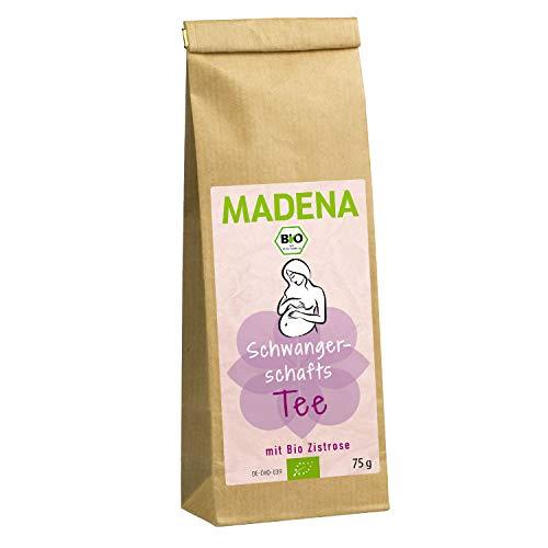 MADENA Bio Schwangerschaftstee | Wohlschmeckender Bio Tee in Apothekenqualität | während der Schwangerschaft | traditionelle Rezeptur mit Bio Zistrosenkraut