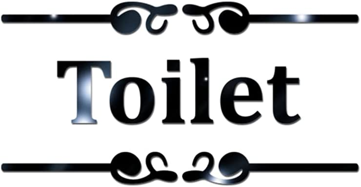 HEALLILY Toilet Mirror Signs Ranking integrated 1st place Wall Oklahoma City Mall Door Stick