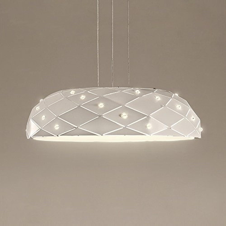 DIAODENT 24W LED Warmes Licht 3000K Pendelleuchte, Modern Kreativ Hngelampe, 45  H12 cm, Metall Kristall Acryl Pendellampe, für Schlafzimmer Esszimmer