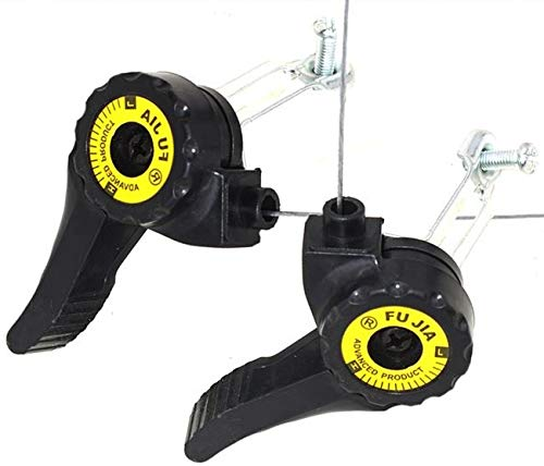 AUROR 1 Pair of 3x5/6/7 Speed MTB Bike Thumb Gear Shifter Top Mount Shifters Black with 59-79 inch Inner Shift Cables