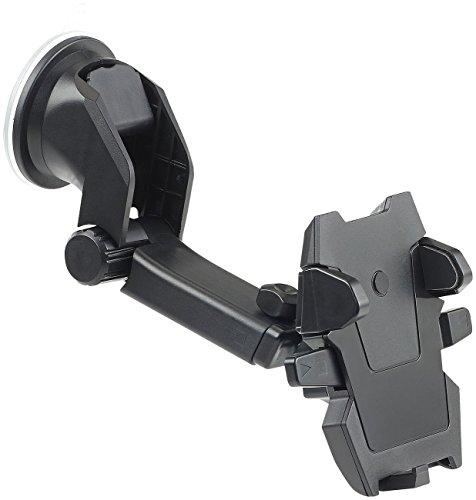 Callstel Handyhalter Auto: Kfz-Smartphone-Armaturenbrett-Halterung, 360°-Teleskop, One-Touch (Auto Handy Halter)