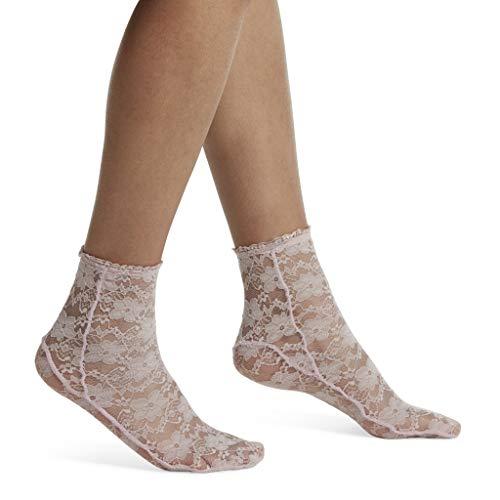 Hue Women's Fashion Shortie Anklet Socks, Assorted Sockshosiery, -buff pink - Lace, One Size