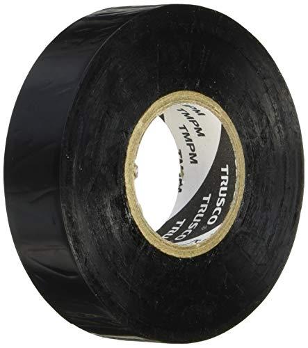 TRUSCO 耐熱・耐寒・難燃 プレミアム ビニールテープ ブラック 19mm×20m TMPM1920BK