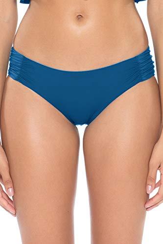 Soluna Women's Under The Sun Tab Side Hipster Bikini Bottom Blue Moon S