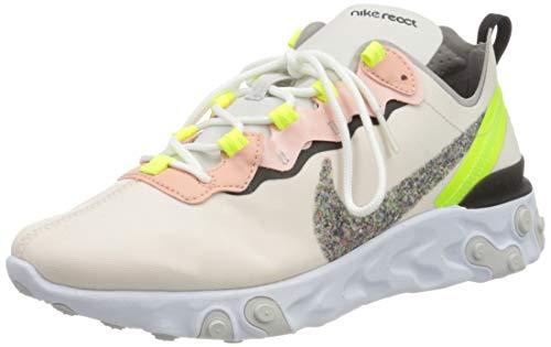 Nike W React Element 55 PRM, Zapatilla de Correr para Mujer, Light Soft Pink/Atmosphere Grey/Black, 38.5 EU