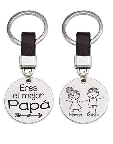 Llavero Redondo Eres el mejor Papa Regalo Hombre Personaliza