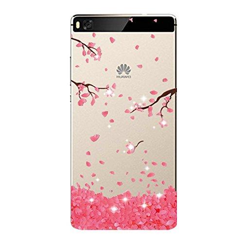 Vanki® Compatibile con Huawei P8 Custodia, Huawei P8 Morbido TPU Custodia Cover Cristallo limpido Trasparente Slim Anti Scivolo Protezione Posteriore Cover per Huawei P8 (8)