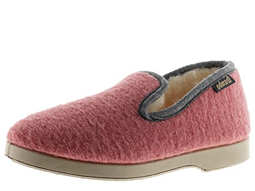 victoria Alpargata WAMBA Confortable Zapatilla DE CASA Textil Fieltro Ribete Contraste 2020102-WOMEN para Mujer Nude 38