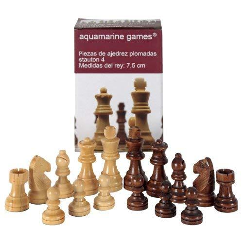 Aquamarine Games - Stauton 4, Piezas de ajedrez (Compudid