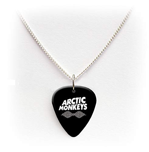 Arctic Monkeys Guitar pick plectrum logo Necklace 24'BW