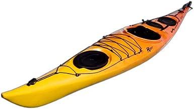 Riot Kayaks Brittany 16.5 Flatwater Touring Kayak with Skeg and Rudder (Yellow/Orange, 16.5-Feet)