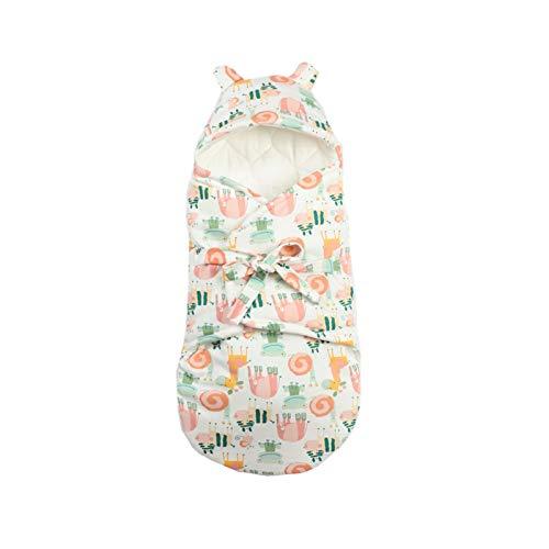 Mantas para Bebé Niños Niñas Mantas Envolventes para Dormir Recién Nacido Saco de Dormir Manta con Capucha Cochecitos Sillas Mantita, 0-3 Meses