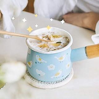 Cacerolas 10cm Forest Series Mini Milk Pan Hogar Leche Olla Calentamiento Rápido Esmalte Salsa Olla Complemento Alimenticio Calefacción Cocina Utensilios De Cocina