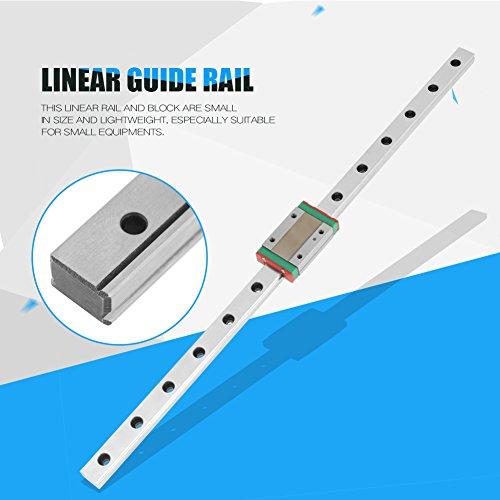 Mini lineare guida 13,8 pollici,MGN12H Slider flangia quadrata ad alta precisione Cuscinetto Lineare guide scorrimento sostituibile blocco per stampante 3D fai da te, macchina CNC