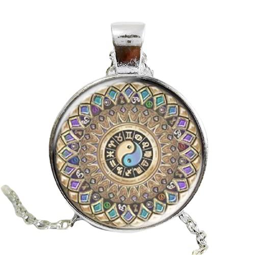 Moda yin yang joyería mandala collares 1 unids henna yoga colgante om símbolo budismo Zen hecho a mano estilo india collar