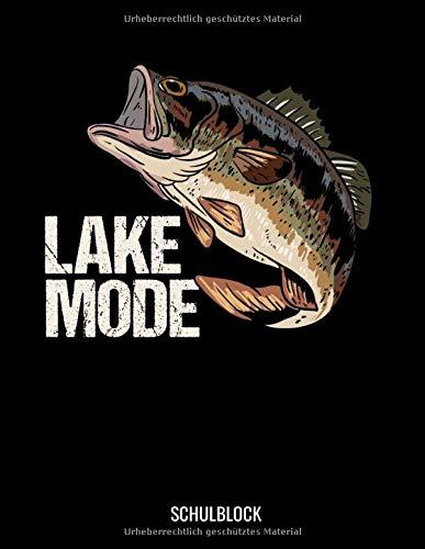 Lake Mode Schulblock: Angeln Fische Karpfen Wels Schul Notitzbuch: 8.5x11 A4 Kariert Bullet Journal | Taschenbuch | Notebook | Planer | Schulheft Für Schüler Und Studenten