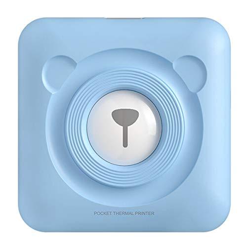 ZHBD Mini Impresora Fotográfica Inalámbrica Portátil, Impresora Térmica De Bolsillo Bluetooth, Impresora Móvil para Imprimir La Marca De La Etiqueta De La Foto, Apoya A Android iOS,Azul,304dpi