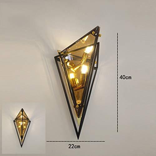 Individuele Creative Light luxe wandlamp, smeedijzer, vergulde diamond Home Aisle hotelbar van glas, prachtige verlichting