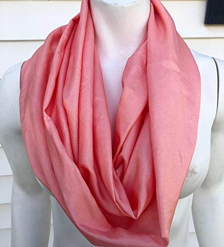 Salmon Animer and Cheap mail order shopping price revision Silk Scarf Infinity