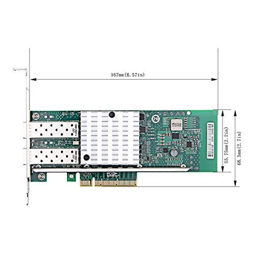 10Gb PCIE Netzwerkkarte für Broadcom 57810S Chip, PCI Express x8-LAN Netzwerkadapter, Dual SFP+ Ports und Fibre Server Adapter