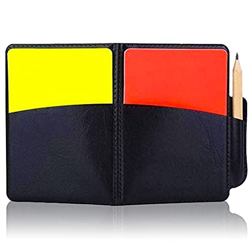 Referee Card Set, Sports Referee Kit Soccer Red and Yellow Cards, Score...