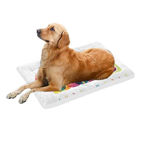 Colorful Love Music Intrument Extra Grande Bedding Suave Pet Dog Bed Sofá para Cachorros y Gatos Mueble Mat Cojín Cojín Cubierta Cojín Regalo Interior Proveedor 36 x 23 Pulgadas
