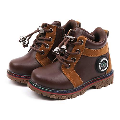 Jungen Mädchen Hausschuh Wasserdicht Boots Sneaker , Kinder Slip on Booties , Boy Girl Kinderhausschuhe, Winterschuhe Schuhe Stiefel Lauflernschuhe Hausschuh Schuh Stiefel Schneestiefel (Kaffee, 27)