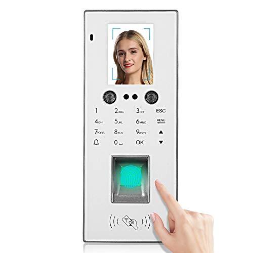 Máquina de Tarjetas Perforadas Huellas Dactilares, Pantalla a Color de 2,8 Pulgadas, Reconocimiento Facial TCP/IP, Huella Digital, Contraseña y Sistema Control Acceso Voz Teclado de Tar