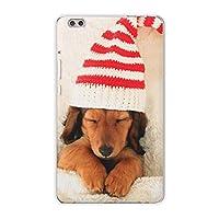 igcase dtab compact d-02k docomo dタブ 用 タブレット ケース タブレット カバー TPU ソフトケース 008439 アニマル 写真 犬 帽子 赤 レッド
