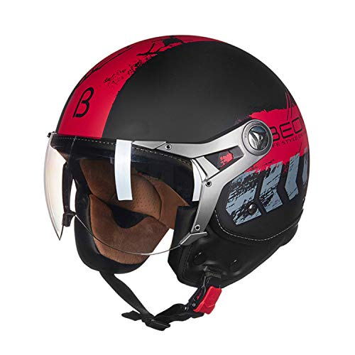 QHZ Adult Jet Open face Motorcycle Harley Helmet Youth Men and Women Riding DOT Half mask Goggles Best Flying Bicycle Scooter Helmet,XL